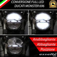 KIT FULL LED DUCATI MONSTER 696 ANABBAGLIANTE ABBAGLIANTE E LUCE POSIZIONE LED