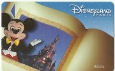DISNEYLAND PARIS ADULT CARD – TICKET – 2001 – USED
