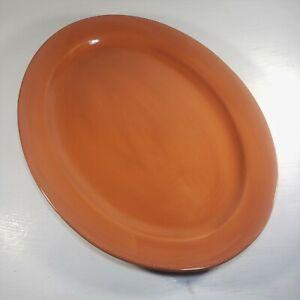 TAG Ceramic Oval Serving Platter Burnt Orange Auburn Centerpiece Fruit-Bowl