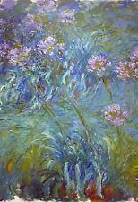 Incorniciato stampa-MONET agapanthus (PICTURE POSTER Pittura Arte Van Gogh DALI)