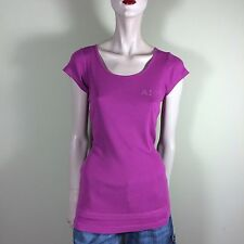 ARMANI JEANS Damen Shirt L XL 40 Beere Top Oberteil Casual Cotton Style