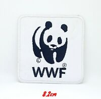 WWF Panda Logo Iron Sew on Embroidered Patch applique #332