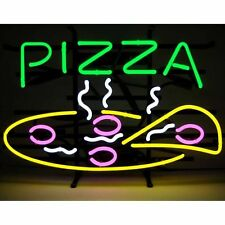 "New Pizza Fast Food Beer Pub Bar Handcrafted Neon Light Sign 17""x14"""