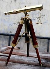 Nautical Ship Spy Glass Telescope Tabletop Wooden Tripod Handmade Telescope Gift