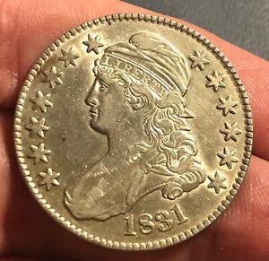 1831 Bust Half ,  Nice white AU