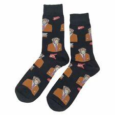 NWT Business Monkey Dress Socks Novelty Men 8-12 Black Fun Sockfly