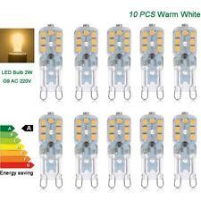 10 x G9 led bulbs 2W warm white lamps SMD2835 chip capsule pack lights 220V 230V
