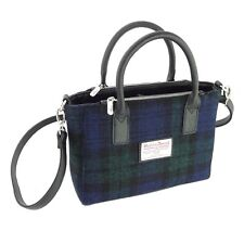 Las Black Watch Harris Tweed Small Tote Bag Brora Lb1228 Col60