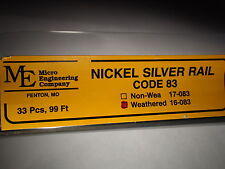 Micro- Engineering 16-083 Weathered Rail Code 83 N.S. 33 Pcs Bigdiscounttrains