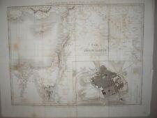TERRE SAINTE PALESTINE JERUSALEM  MAP CARTE GEOGRAPHIQUE TARDIEU 1837 AUDOT