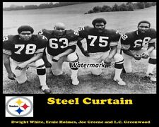 NFL 1970's Pittsburgh Steelers Steel Curtain Black & White 8 X 10 Photo Picture