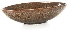 15.8 Oval Brown And Gold Ceramic Bowl Vase Dish Art fruit salad  decor candy