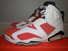 NIKE AIR JORDAN VI 6 RETRO WHITE/TEAM ORANGE/BLACK LIKE MIKE MENS 10.5