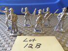 6 Lead Civil War Soldier Figurines