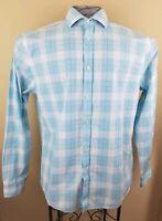Tommy Hilfiger Long Sleeve Dress Casual Shirt Mens Size 16 1/2 L Large Slim Fit