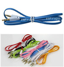 Lot of 3FT/1M 3.5mm Jack Male to Male Stereo Aux Audio colorful Cable Cord EPS