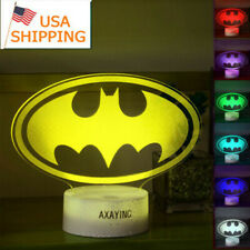7 Color Night light Super Hero Batman 3D LED Touch Switch Table Desk Lamp Gift
