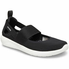 Crocs Literide Mary Jane Damen Soft Ballerina schwarz/weiß (black/white)