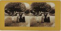 Mujeres Moda Sombreros Montfermeil Francia Foto Estéreo P28T3n18 Vintage Citrato