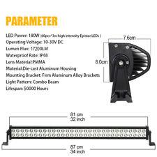 "12"" 24"" 32"" 42"" 52"" Barre LED Phares de Travail Feux Light Bar Foglight +Câblage"