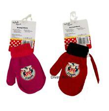 Disney Minnie Mouse Knitted Hand Gloves Kids Child Girls Winter Warm Gloves Gift