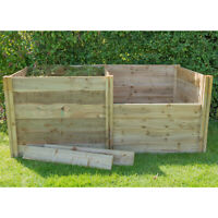 Compact Wooden Compost Bin Lid 62cm x 62cm Gardening Works Timber Wood