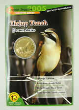 Malaysia 25 Sen Coin 2004 UNC, Endangered Species - Brown Shrike