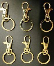 6 GOLD SNAP HOOKS SWIVEL KEY RINGS LANYARD CLIPS, Craft, Free Aus Post