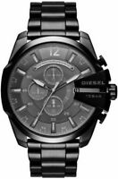 BRAND NEW DIESEL MEGA CHEIF BLACK STAINLESS STEEL CHRONOGRAPH MEN WATCH DZ4355