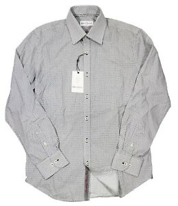 Robert Graham Men's Black/White Quin Patterned Dress Shirt