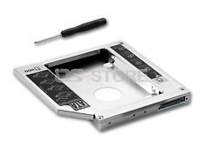 "Universal 2.5"" 12.7mm 2nd BOX Caddy Bay SATA HDD SSD to IDE PATA CD DVD RW BD Bl"