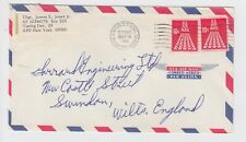 1968 US Army & Air Force APO 09380 Cover Istanbul Turkey to England