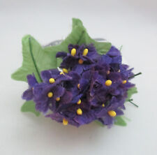 "1 Bunch of 20 Mini 1/2"" Rayon Floser Picks - Violets"