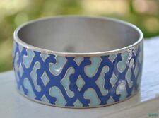 Lucky Brand Bracelet Cuff Blue Aqua Sea Mosaic Moroccan Metal New Wide Bangle