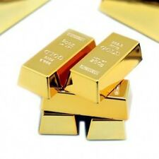 6pcs Gold Bullion Fridge Magnet Paper Weight Bring Money Luck