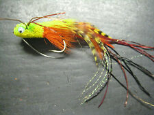 3 Gurgle Bug Chartreuse # 6 Fishing Flies Brookside Gerbubble Bass Deer Hair