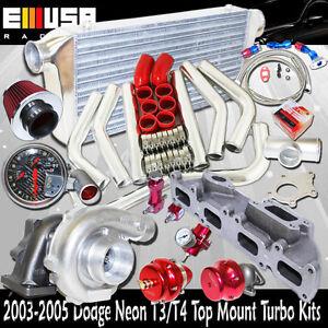 T3/T4 Turbo Kits for 03-05 Dodge Neon SRT-4 Sedan 4d 2.4L 2429CC Up to 500HP