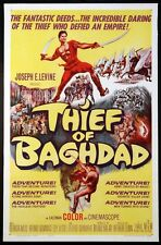 THE THIEF OF BAGDAD STEVE REEVES SWORD & SANDAL 1961 1-SHEET ON LINEN
