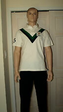POLO RALPH LAUREN White Custom Fit RLPC Football Club Rugby Shirt L NWT