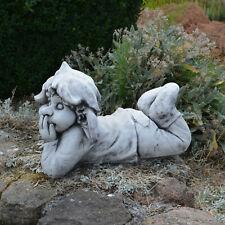 Massive Steinfigur Gnom ,,ich platze vor Lachen'' Wichtel Steinguss frostfest