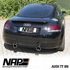 NAP Sportauspuff Audi TT Typ 8N 1.8l (inkl. Roadster) | Duplex Edelstahl