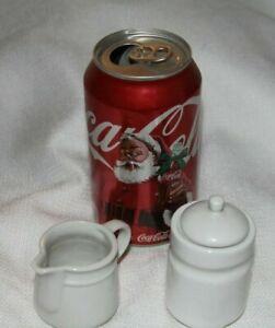 Miniature Cream Sugar Set Unmarked Stoneware