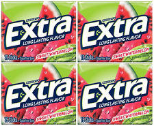 4x Wrigley's Extra Long Lasting Sweet Watermelon Flavoured Gum American Sweets
