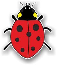 Belle mignon Coccinelle Ladybug design de couleur rouge Vinyle Autocollant Voiture Décalque