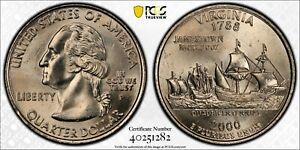 2000 P Washington State Quarter Virginia Reverse PCGS MS64