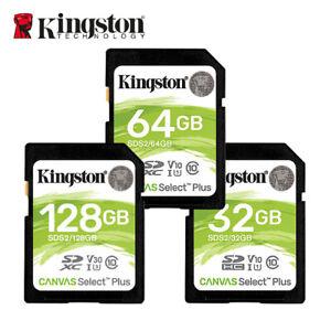 NEW Kingston 32GB 64GB 128GB Canvas Select Plus C10 UHS-I U1 SD Memory Card HD