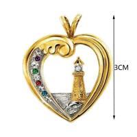 Herzsymbol Hoffnung Leuchtturm Anhänger Lady Set Halskette Schmuck