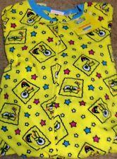 Nickelodeon SpongeBob Squarepants Footed Pajamas Yellow Stars 1 PC L NWT LASTONE