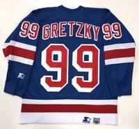WAYNE GRETZKY 1999 NEW YORK RANGERS STARTER REPLICA LAST GAME JERSEY LARGE