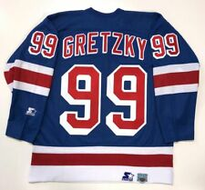 WAYNE GRETZKY 1999 NEW YORK RANGERS STARTER REPLICA LAST GAME JERSEY LARGE